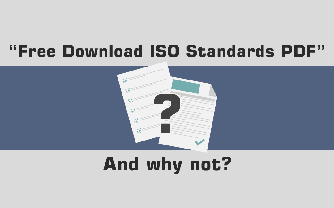 """Free Download ISO Standards PDF"". (And Why Not..?)"
