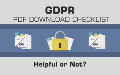 GDPR PDF Download Checklist – Helpful or Not?